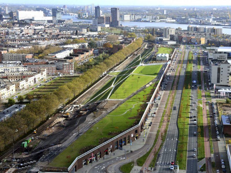 buro-sant-en-co-landschapsarchitectuur-dakpark-rotterdam-ontwerp-luchtfoto