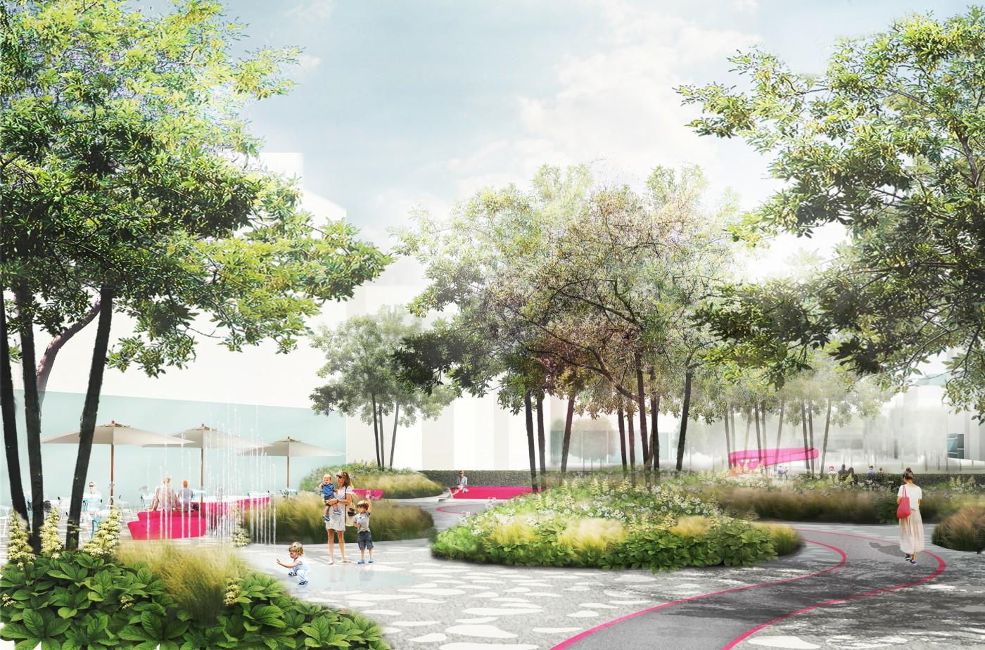 buro-sant-en-co-landschapsarchitectuur-van leeuwenhoekpark-delft-stadspark-dakpark-klimaatadaptief-ecologie-city lounge-ontwerp