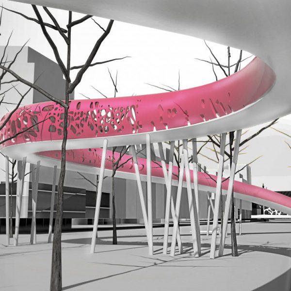 buro-sant-en-co-landschapsarchitectuur-van leeuwenhoekpark-delft-stadspark-dakpark-klimaatadaptief-ecologie-irene boulevard-brug-ontwerp