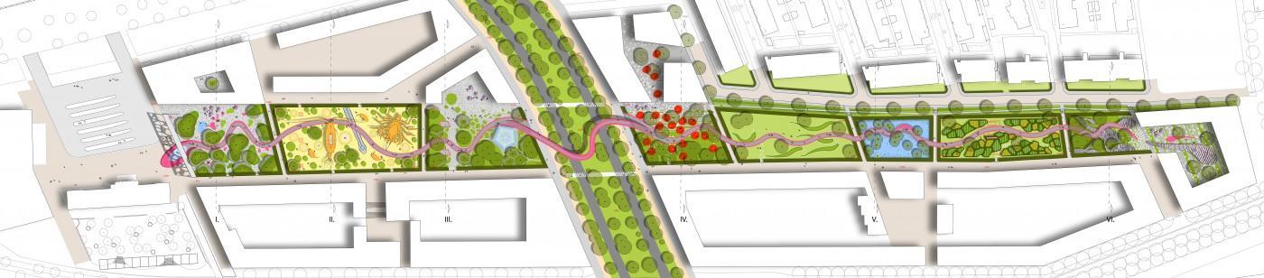 buro-sant-en-co-landschapsarchitectuur-van leeuwenhoekpark-delft-stadspark-dakpark-klimaatadaptief-ecologie-ontwerp-plantekening