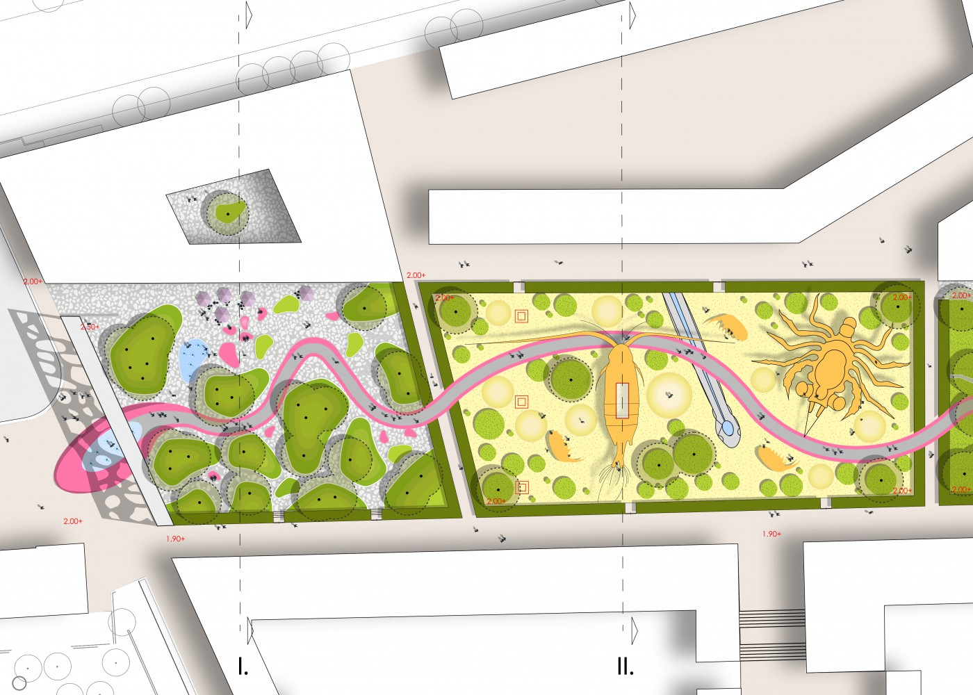 buro-sant-en-co-landschapsarchitectuur-van leeuwenhoekpark-delft-stadspark-dakpark-klimaatadaptief-ecologie-ontwerp-plantekening-2