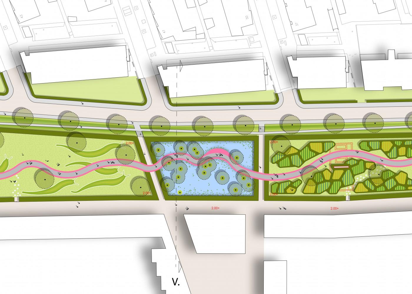 buro-sant-en-co-landschapsarchitectuur-van leeuwenhoekpark-delft-stadspark-dakpark-klimaatadaptief-ecologie-ontwerp-plantekening-3