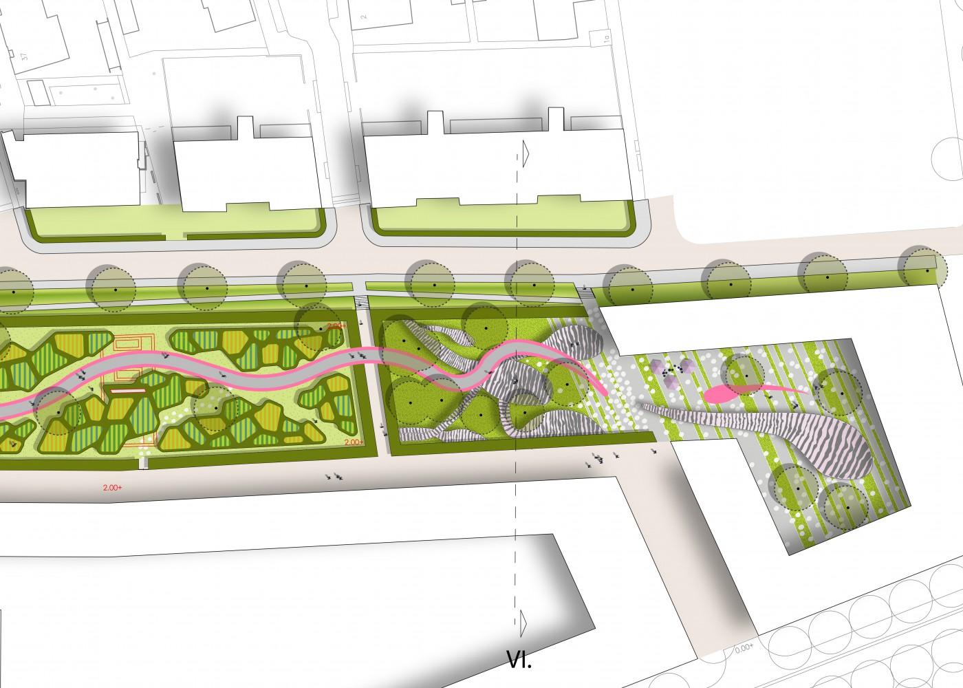 buro-sant-en-co-landschapsarchitectuur-van leeuwenhoekpark-delft-stadspark-dakpark-klimaatadaptief-ecologie-ontwerp-plantekening-4