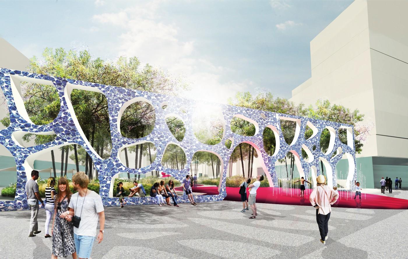 buro-sant-en-co-landschapsarchitectuur-van leeuwenhoekpark-delft-stadspark-dakpark-klimaatadaptief-ecologie-stationsplein-pergola-ontwerp