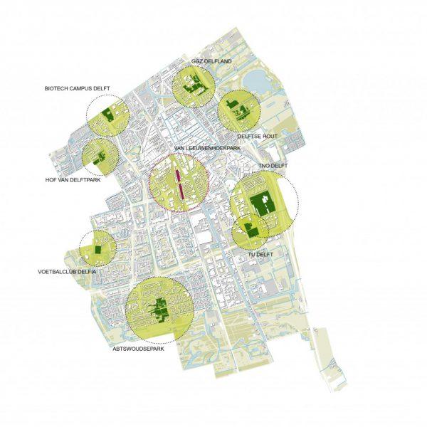 buro-sant-en-co-landschapsarchitectuur-van leeuwenhoekpark-delft-stadspark-dakpark-klimaatadaptief-ecologie-vergroening