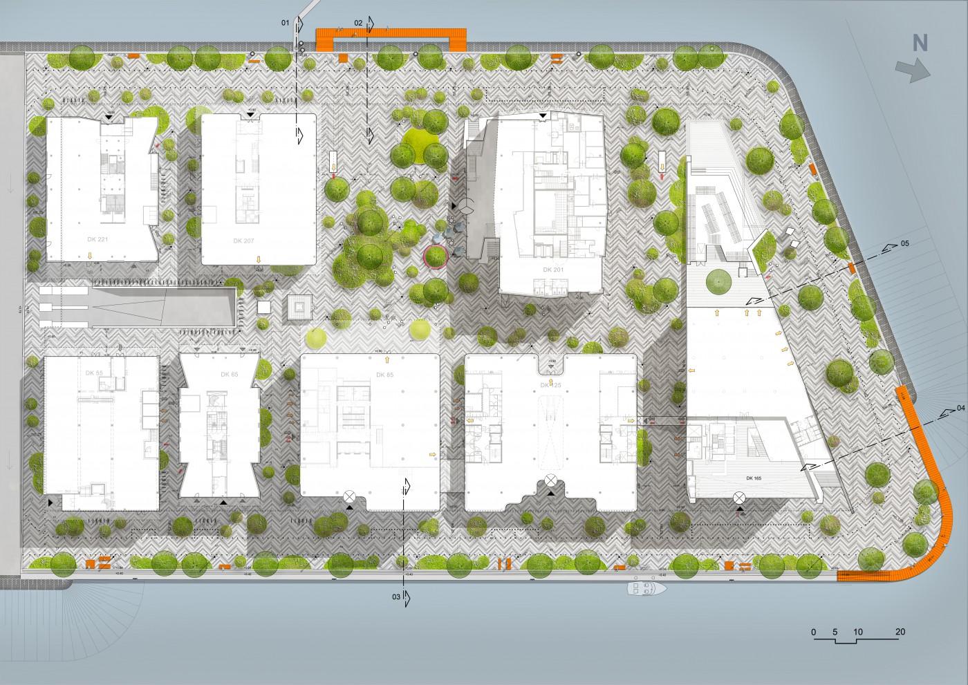 buro-sant-en-co-landschapsarchitectuur-danzigerkade-houthavens-amsterdam voorlopig ontwerp