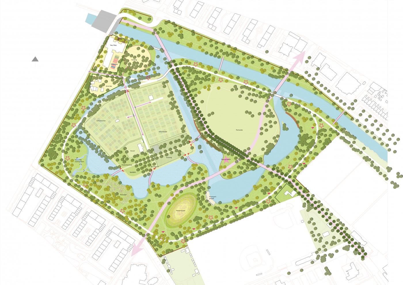 buro-sant-en-co-landschapsarchitectuur-schoterbos-haarlem-stadspark-plan schema