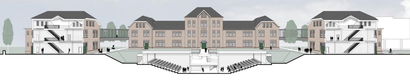 buro-sant-en-co-landschapsarchitectuur-tapijnkazerne-maastricht-transformatie-herbestemming-campus-universiteit-maastricht-doorsnede-1