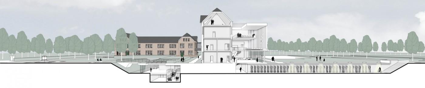 buro-sant-en-co-landschapsarchitectuur-tapijnkazerne-maastricht-transformatie-herbestemming-campus-universiteit-maastricht-doorsnede