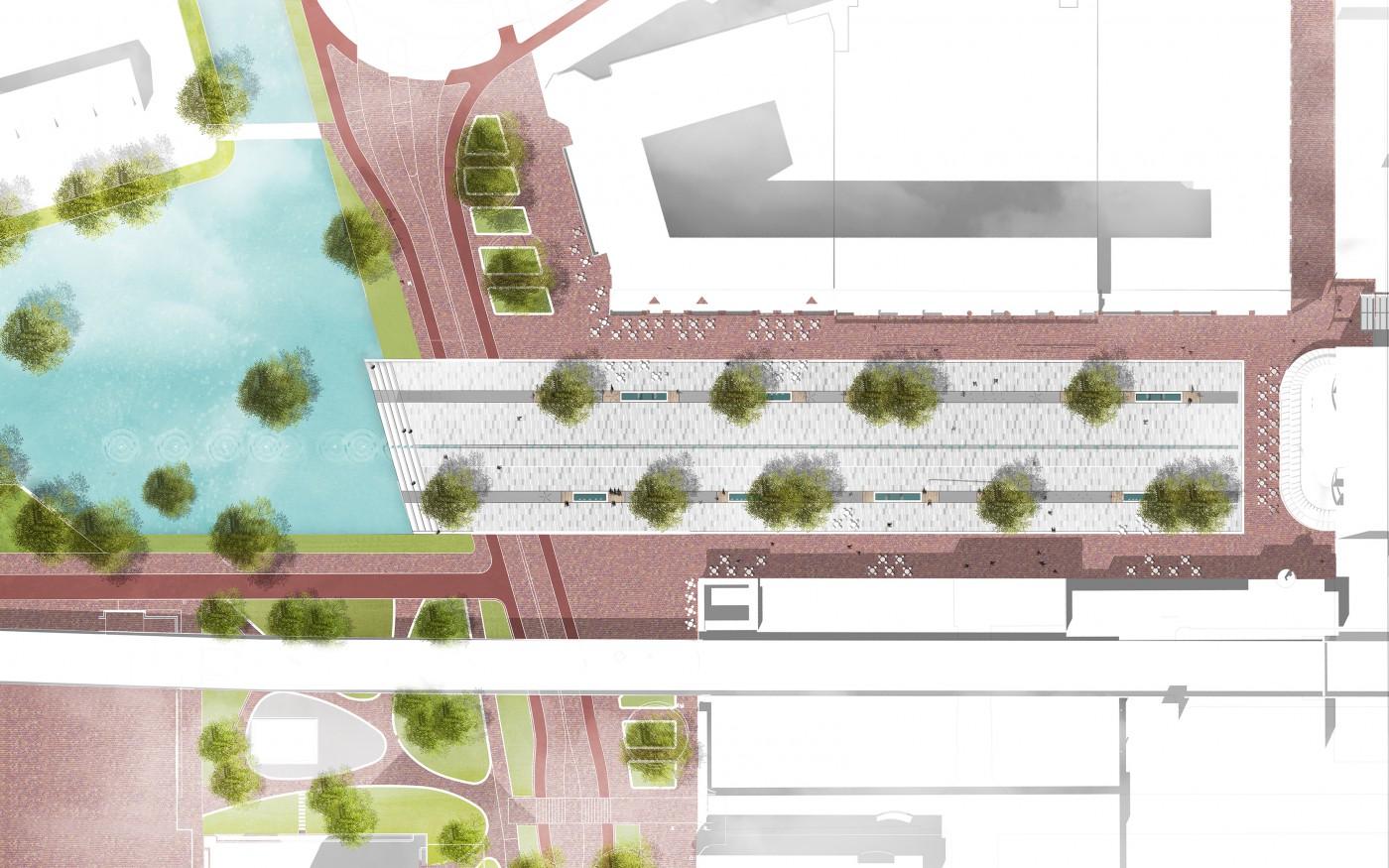 2 SANTENCO SO-Stadsplein Capelle-Model Liniair-PLANTEKENING