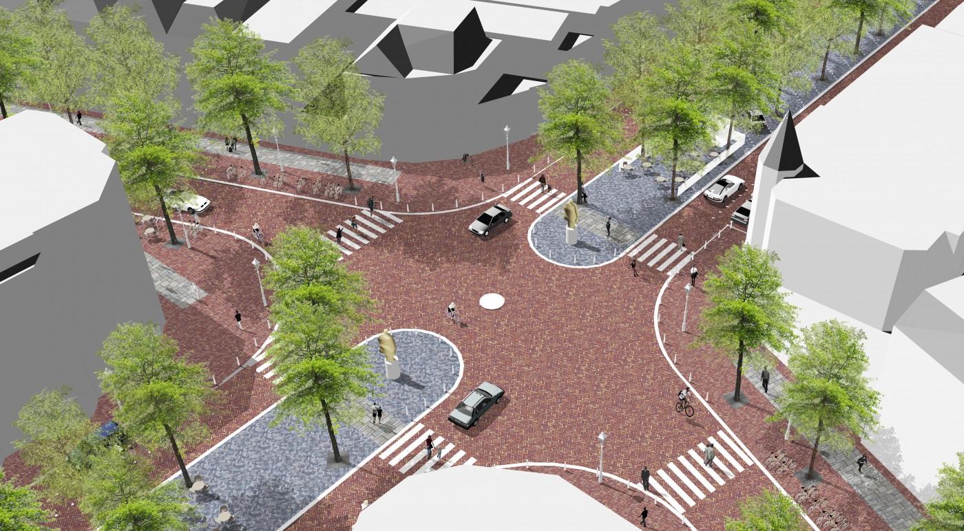 buro-sant-en-co-landschapsarchitectuur-frederik hendriklaan-den haag-winkelstraat-stedelijke transformatie-herinrichting-klimaatadaptief-verblijfskwaliteit-impressie