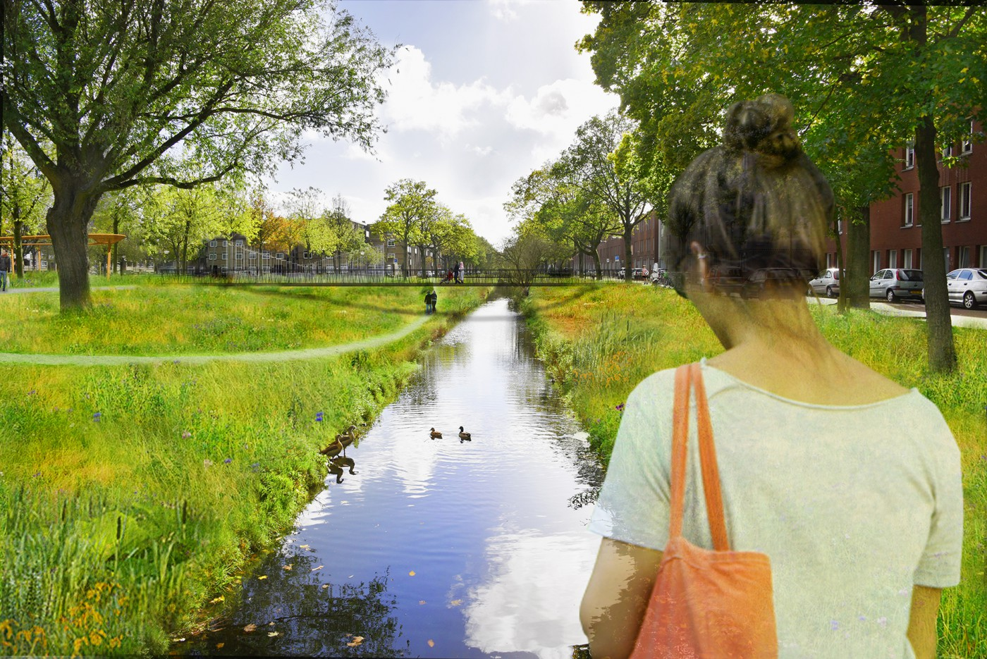 buro-sant-en-co-landschapsarchitectuur-cromvlietpark-den-haag-brug-noordpolderkade 2