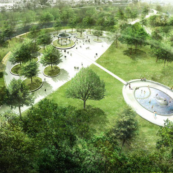 buro-sant-en-co-landschapsarchitectuur-oosterpark-amsterdam-ontwerp-kit-evenementen-plein-vijver-vogelvlucht-1