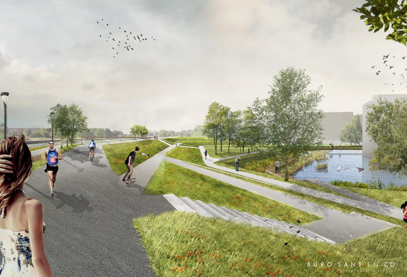 Buro-sant-en-co-landschapsarchitectuur-Dijkpark-Amsterdam ontwerpschets-2018