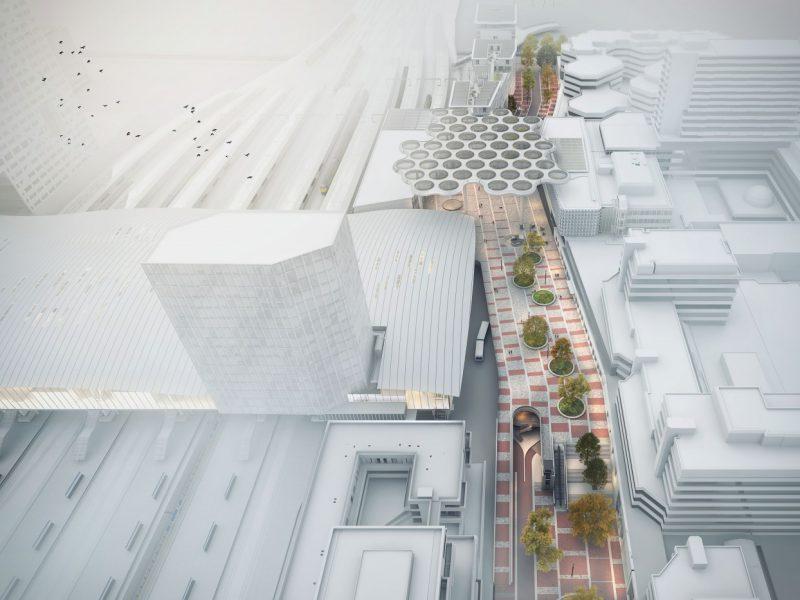 buro-sant-en-co-landschapsarchitectuur-stationsplein-oost-utrecht-centraal station-ontwerp-herinrichting-fietsparkeerkelder-groendak-ector hoogstad