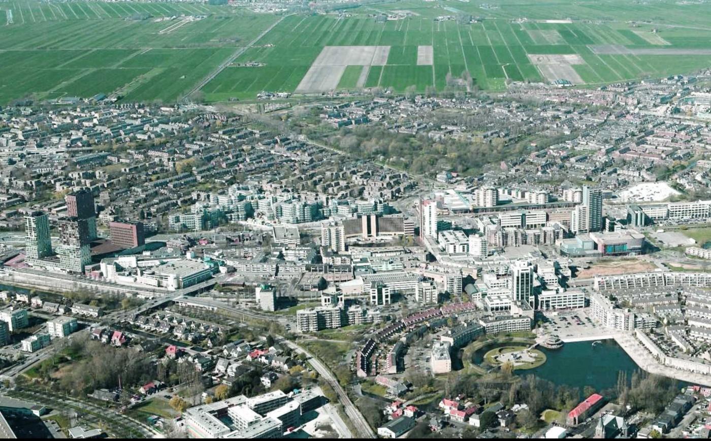 buro-sant-en-co-landschapsarchitectuur-den haag-stadshart-zoetermeer-centrum-ontwikkeling-herinrichting-ontwerp-luchtfoto