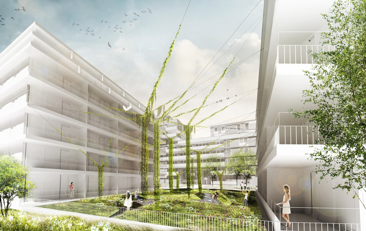 buro-sant-en-co-landschapsarchitectuur-overhoeks-amsterdam-woonomgeving-ontwerp-binnentuin-blok B-ymere-amvest